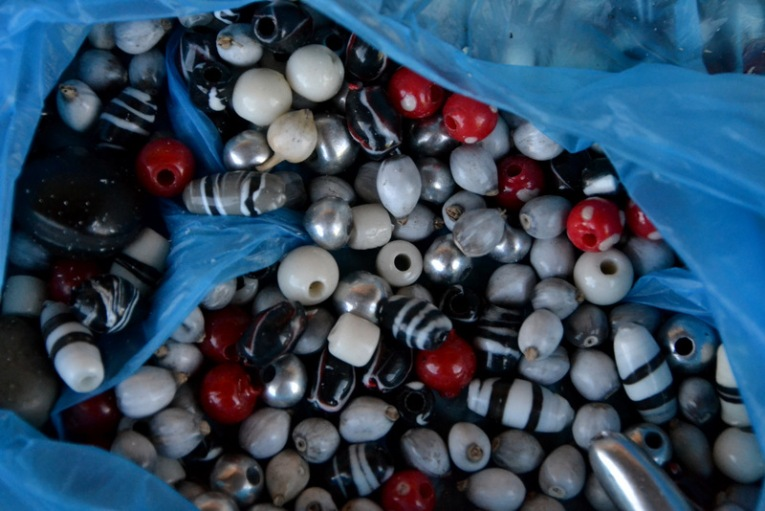 seeds, aluminum beads, and plastic beads sourced from the 67Hectare market