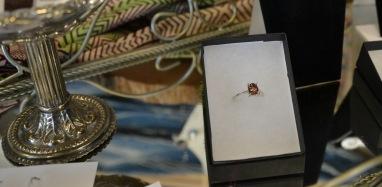 1.5ct Salmon/Rose Turmaline ring