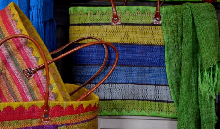 Market baskets. Large. Assorted colours (silk scarves not for sale)