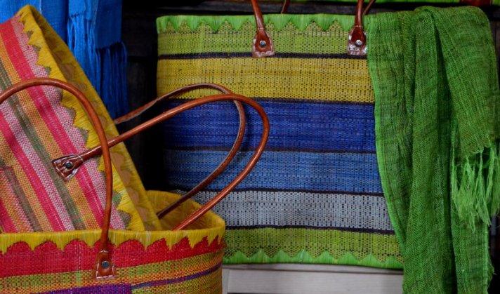 Market baskets. Large. Assorted colours (silk scarves not for sale)