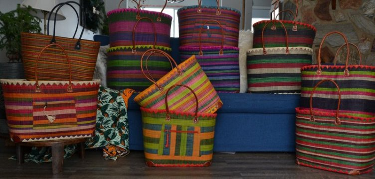 Baskets with Dark Green all