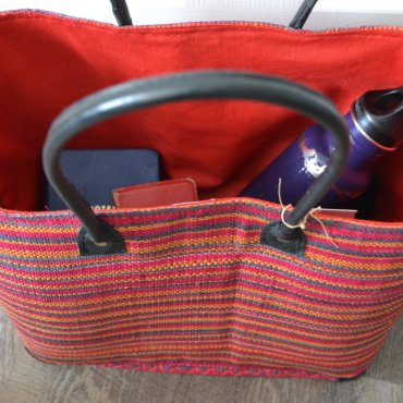 Handbag: I use mine for everyday outtings since it can easily hold my water bottle, notebook, phone, wallet, pens, keys, snacks, and a few items from my boys.