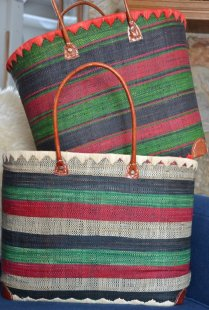 Baskets with Dark Green 1