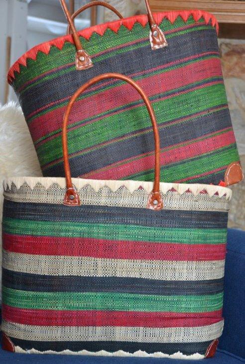 Baskets with Dark Green 1