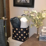 Storing towels in the bathroom or guest room.