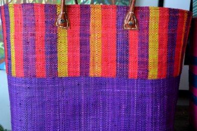 Purple vertical stripe