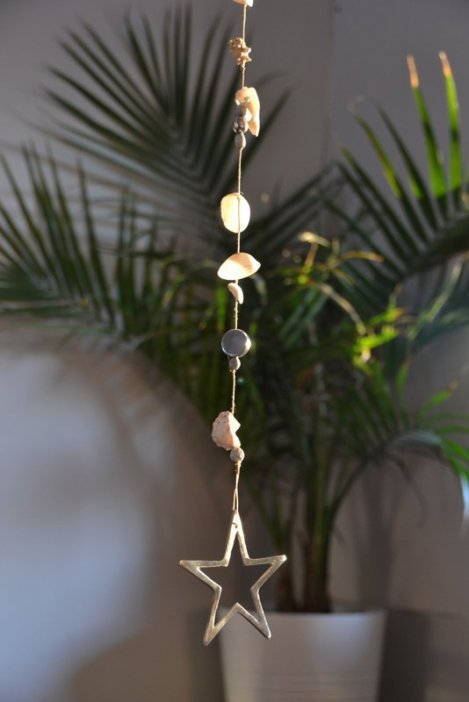 Hanging star/shell ornament
