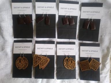 Hand carved earrings